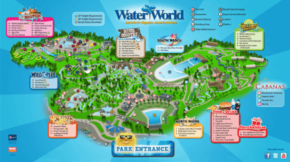 Water World Park Map