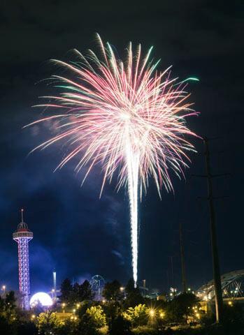 4th of July Fireworks Elitch Gardens