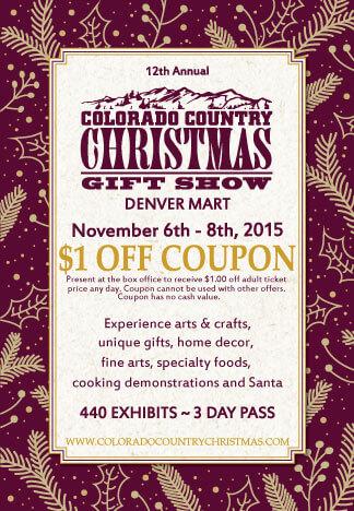 Colorado Country Christmas Gift Show Coupon