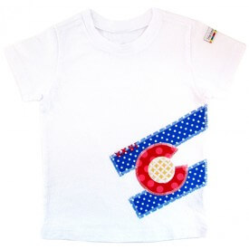 All Things Bean CO Flag Tee $25