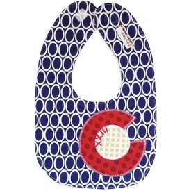 All Things Bean CO Flag Oval Bib $18