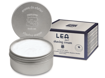 LEA Classic Shaving Cream In Metallic Tub