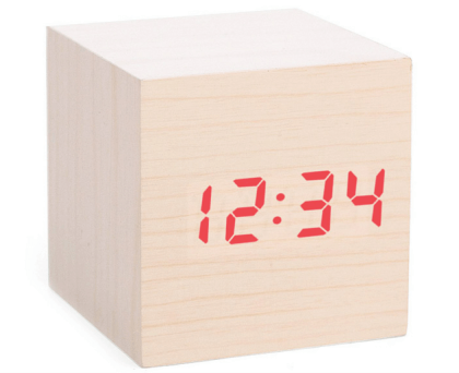 Cube LED Alarm Clock $32