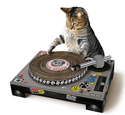DJ Cat Scratching Pad $35