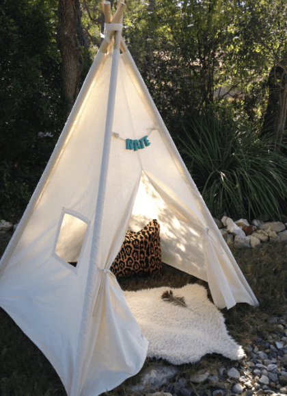 Kids Canvas TeePee $60
