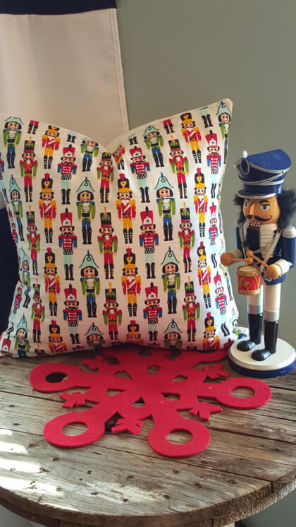 Nutcracker Pillow $30