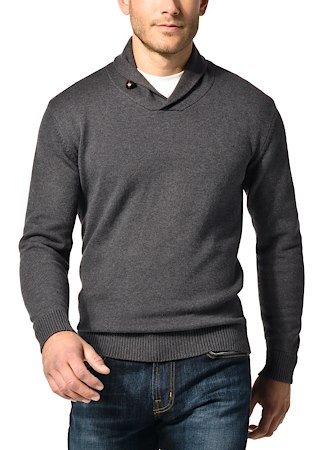 J.Hilburn Shawl Collar Pullover Grey $90