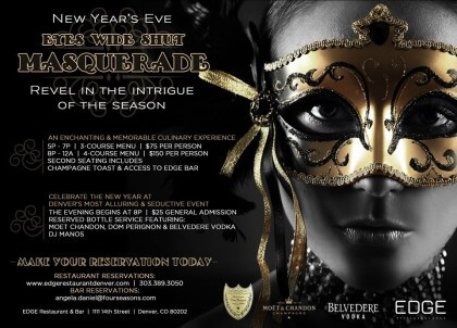 New Year's Eve at EDGE: Eyes Wide Shut Masquerade