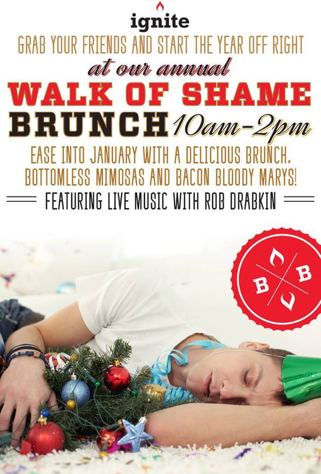 Annual Walk of Shame at Ignite Burgers & Bar