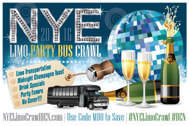 NYE Limo Bus Crawl - Denver New Year's 2016