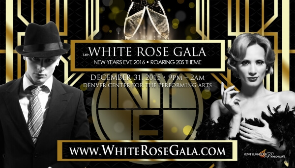14th Annual White Rose Gala – NYE Denver 2015 – 2016
