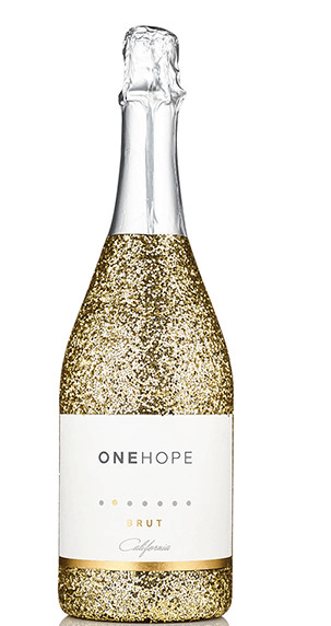 California Sparkling Brut Gold Glitter Bottle $41.30