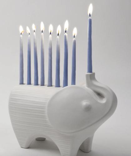 Jonathan Adler Ceramic Elephant Menorah $128