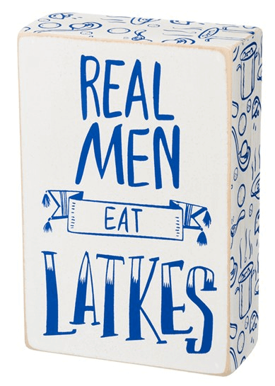 'Real Men Eat Latkes' Box Sign $8.40