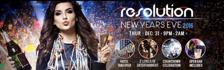 Resolution New Years Eve Denver OPEN BAR Party