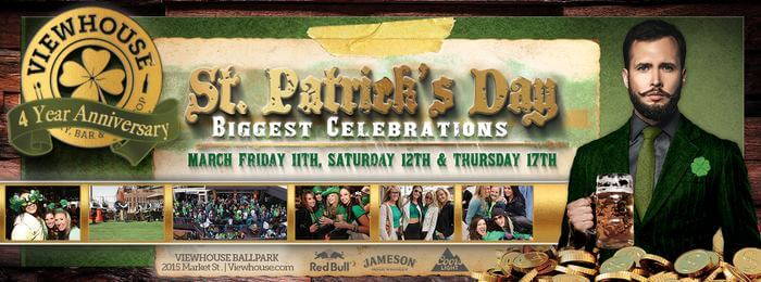 4 Year Anniversary + St. Patrick's Day Party | Viewhouse Eatery, Bar & Rooftop | The Denver Ear