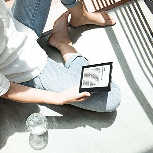 Kindle Oasis E-Reader with Leather Charging Cover | The Denver Ear
