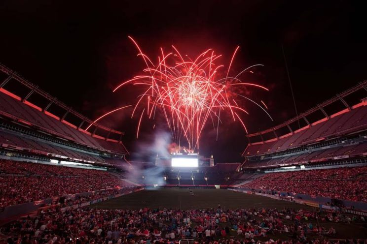 Denver Outlaws vs. Florida Launch Fireworks Match at Sports Authority Field at Mile High | The Denver Ear