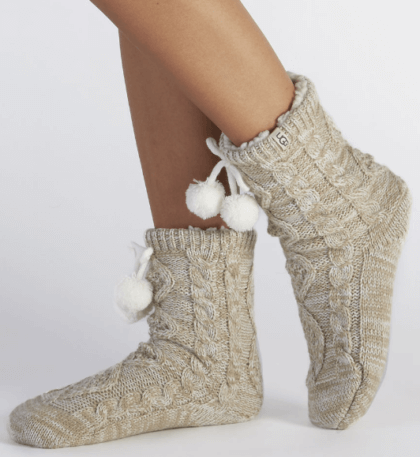 Pom Pom Fleece Lined Crew Sock | UGG | The Denver Ear