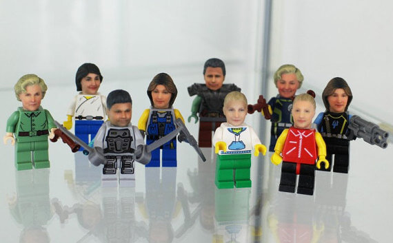 Personalized Head Lego Mini figure | The Denver Ear