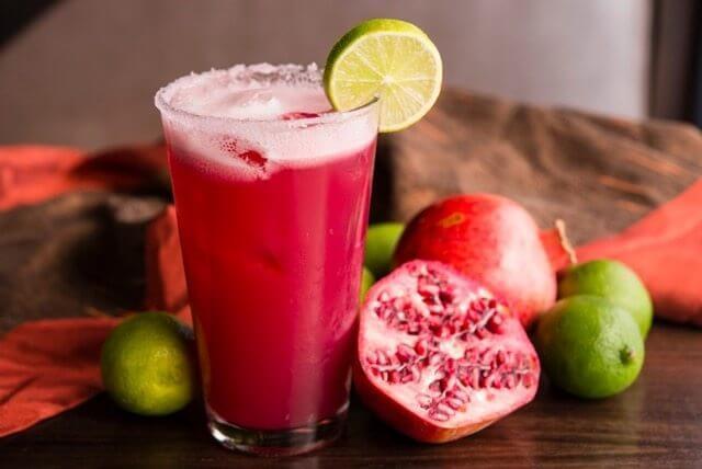 Pomegranate and Cinnamon Margarita | SOL Mexican Cocina | The Denver Ear