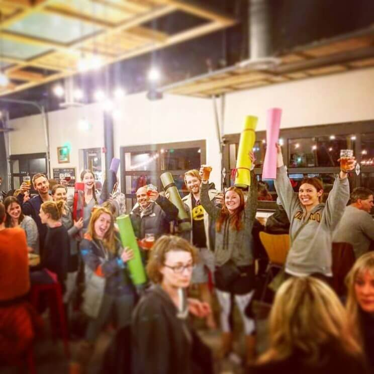 Brewhouse Yoga | Sanitas Brewing Co. & All Terrain Yoga | The Denver Ear