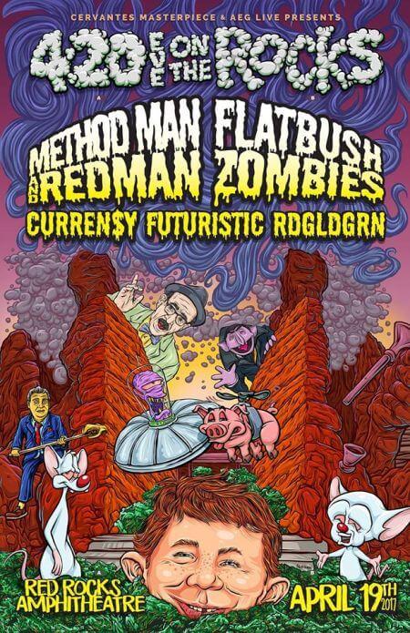 April 19th 2017 | 420 on the Rocks: Method Man & Redman, Flatbush ZOMBiES | The Denver Ear