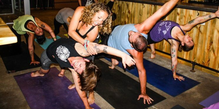 Spangalang Brewery's First Saturday Yoga Brewhouse with Après Yoga | The Denver Ear